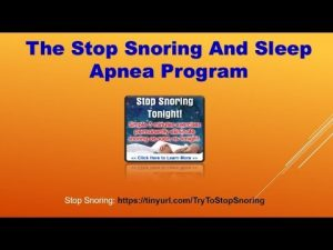 The Stop Snoring and Sleep Apnea Program Christian Goodman